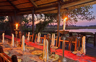 Dinning area at Delta Camp