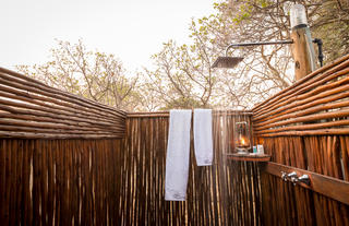 Outdoor Shower Adjacent to Bathroom