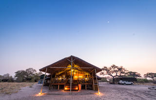 Frontal View of the Main Area Camp Savuti