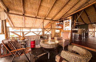 African Inspired Decor at Camp Savuti