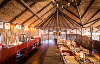 True Safari Dining at Camp Savuti