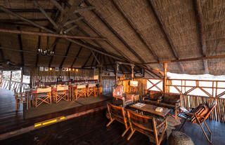 Dining, Lounge and Bar Area at Camp Savuti