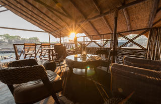 Lounge and Viewing Deck at Camp Savuti
