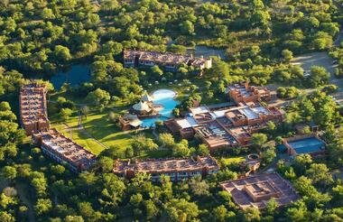 Aerial view of AVANI Victoria Falls Resort