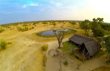Aerial view of Bomani Tented Lodge